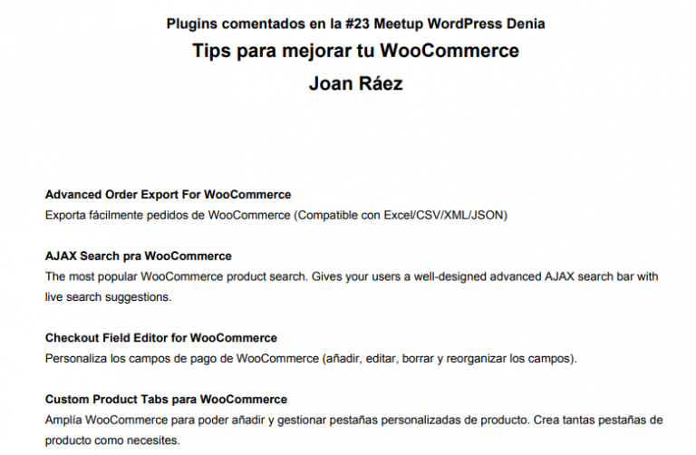 23: Tips para mejorar tu WooCommerce